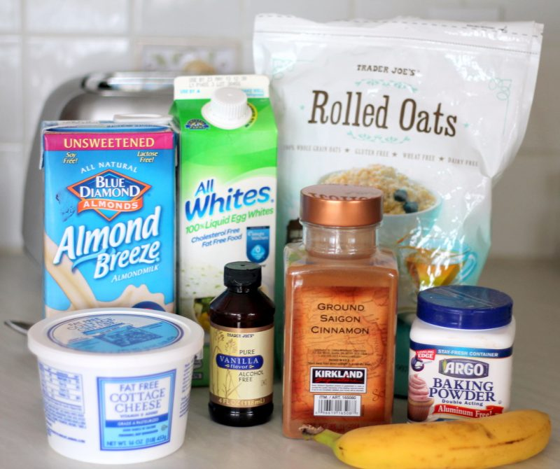 ingredients to make oatmeal cottage cheese pancakes