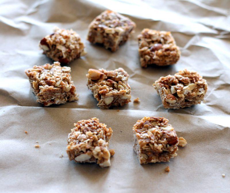 homemade coconut almond granola bars