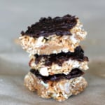 No-Bake Dark Chocolate Coconut Almond Granola Bars