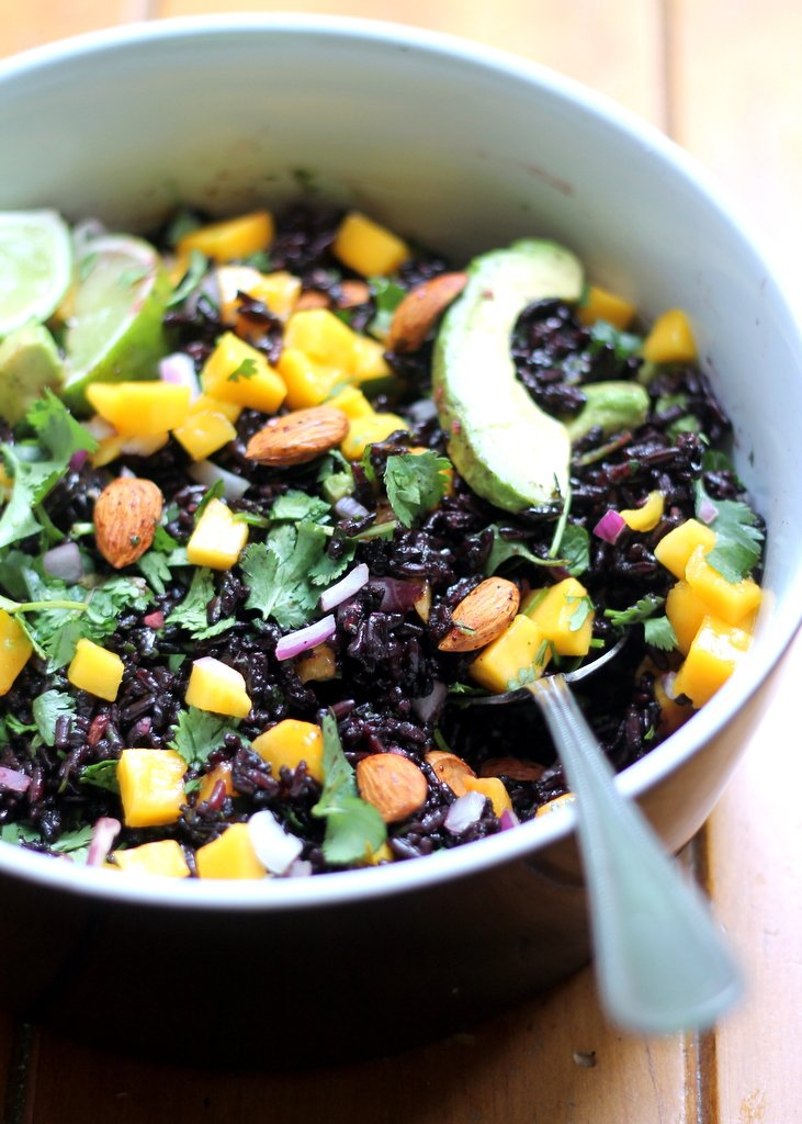 Mango & Avocado Black Rice Salad with Cilantro-Lime Vinaigrette