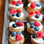 Summer Berry Crostini with Lemon Ricotta + Honey