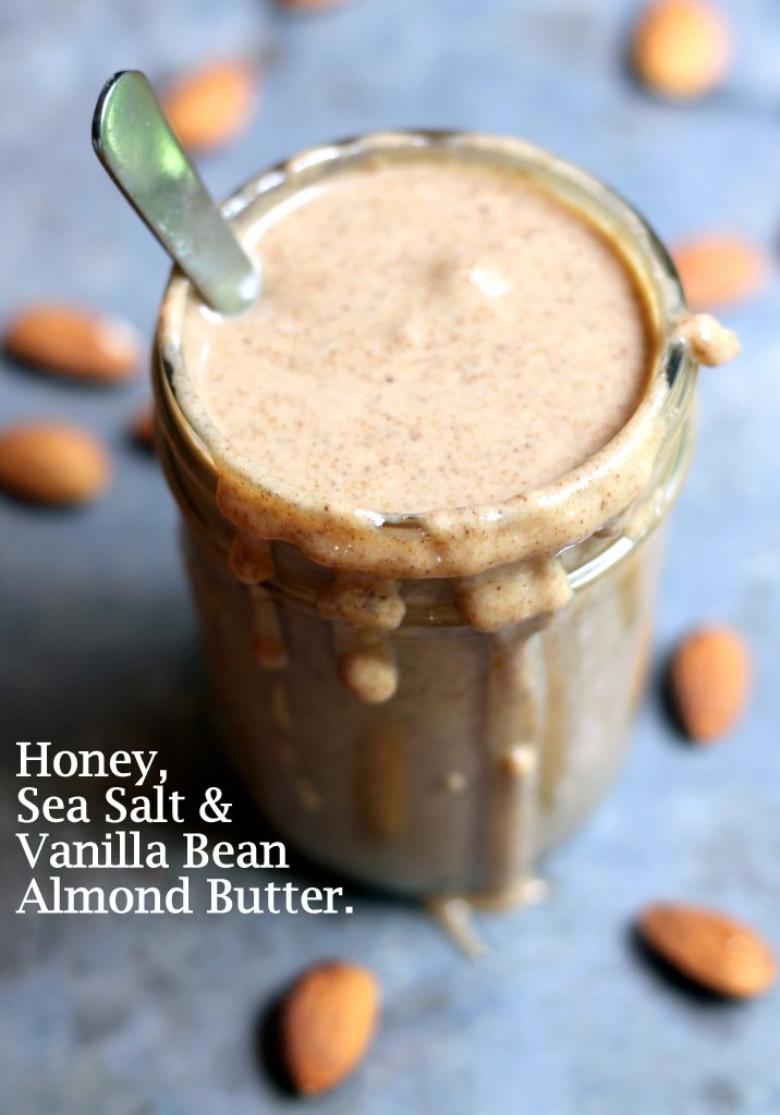 homemade almond butter in jar