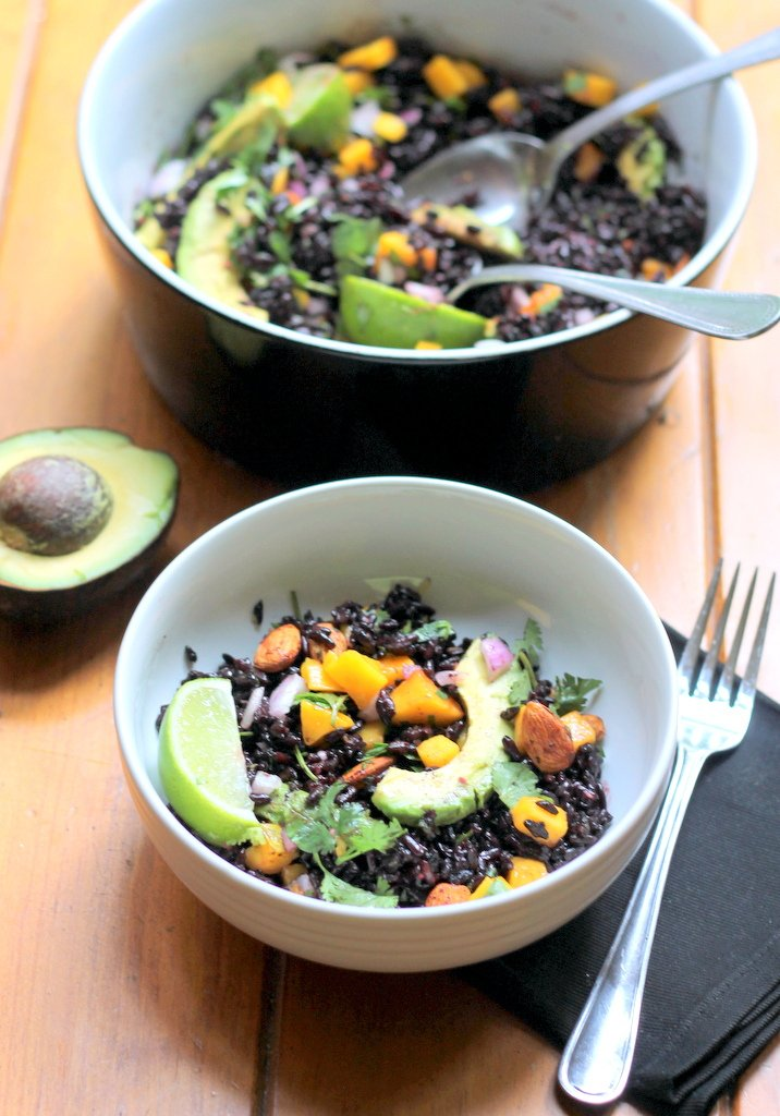 Mango & Avocado Black Rice Salad with Cilantro-Lime Vinaigrette ...