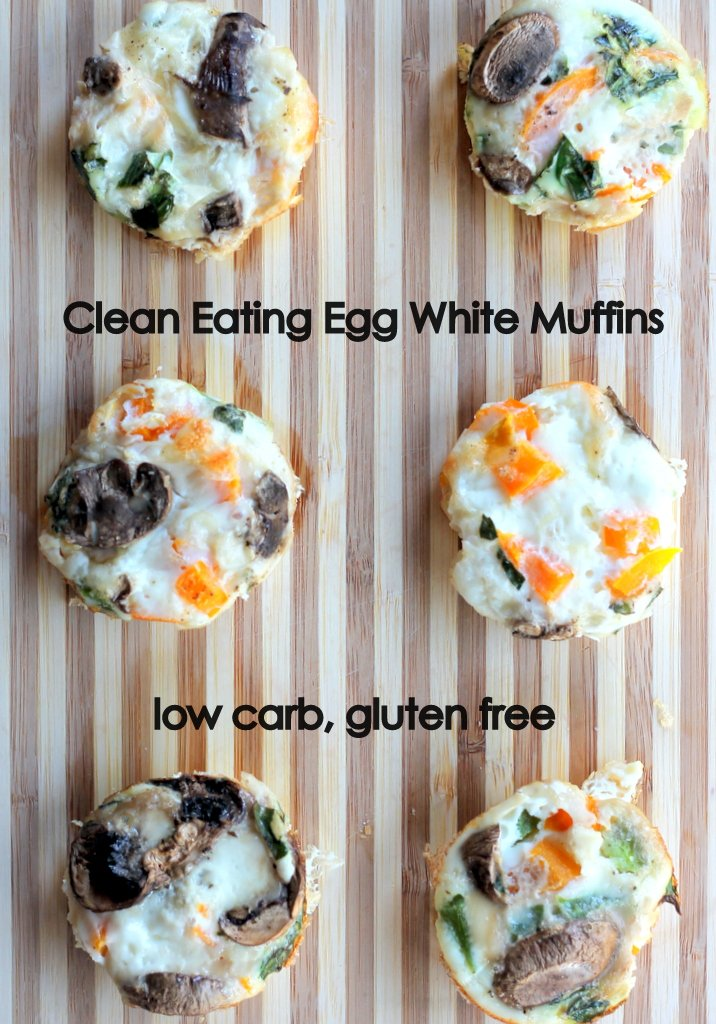 egg white muffins with vegetables on board
