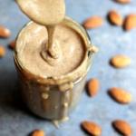 homemade almond butter in jar