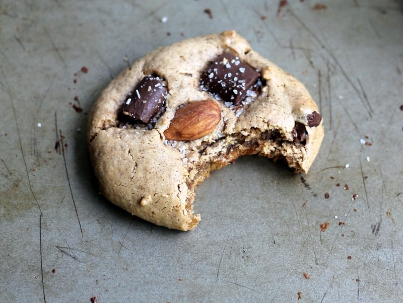 healthy chocolate chip cookie