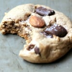 Flourless Almond Butter Dark Chocolate Chunk Cookies with sea salt