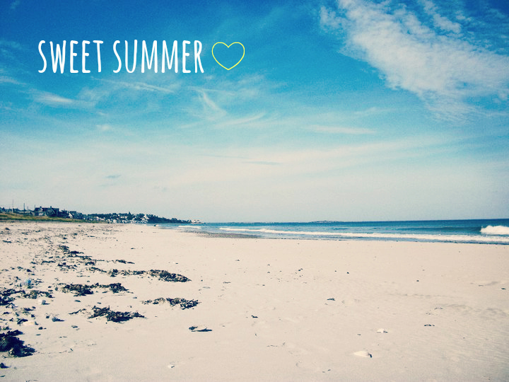 beach with sweet summer text overlay