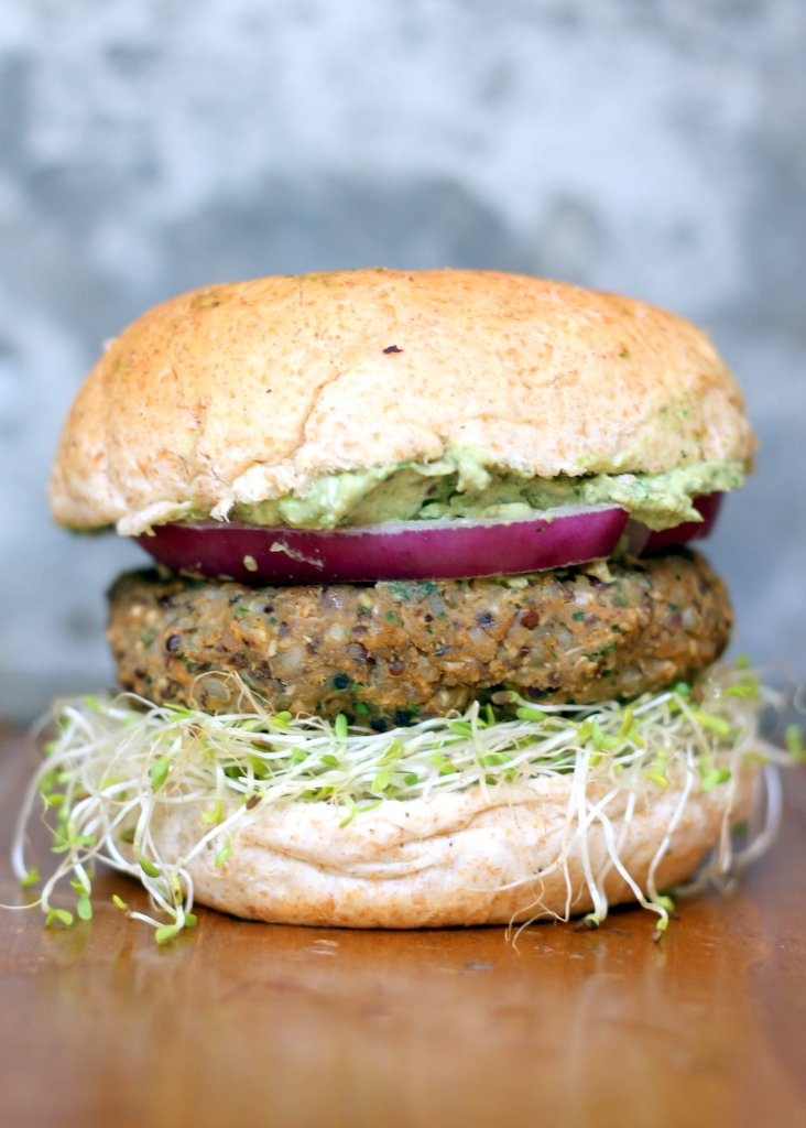 Spicy Sweet Potato Black Bean Burgers with avocado ...