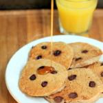 Mini Whole Wheat Vanilla Yogurt Dark Chocolate Chip Pancakes