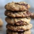 stack of chocolate chip coconut oatmeal cookies