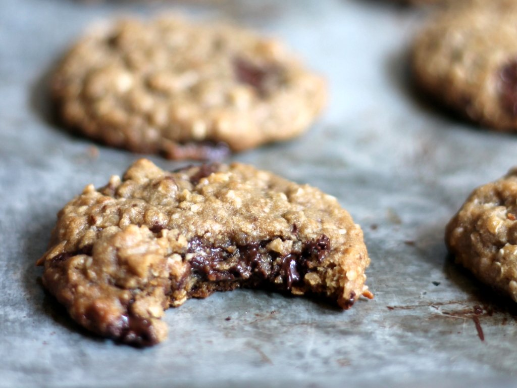 Chewy Chocolate Chunk Coconut Oatmeal Cookies {made with ...