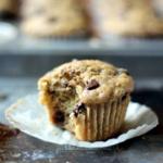 Skinny Zucchini Banana Chocolate Chip Muffins {healthy, low-fat}