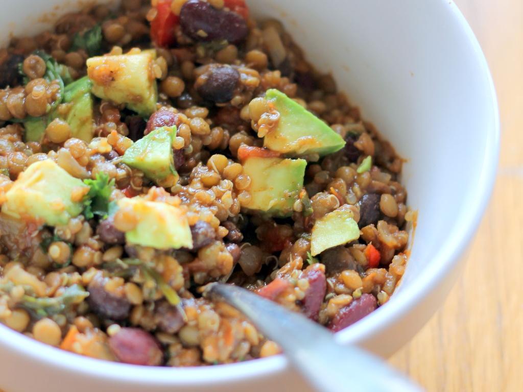 Lentil & Quinoa Chili {vegan & gluten free}