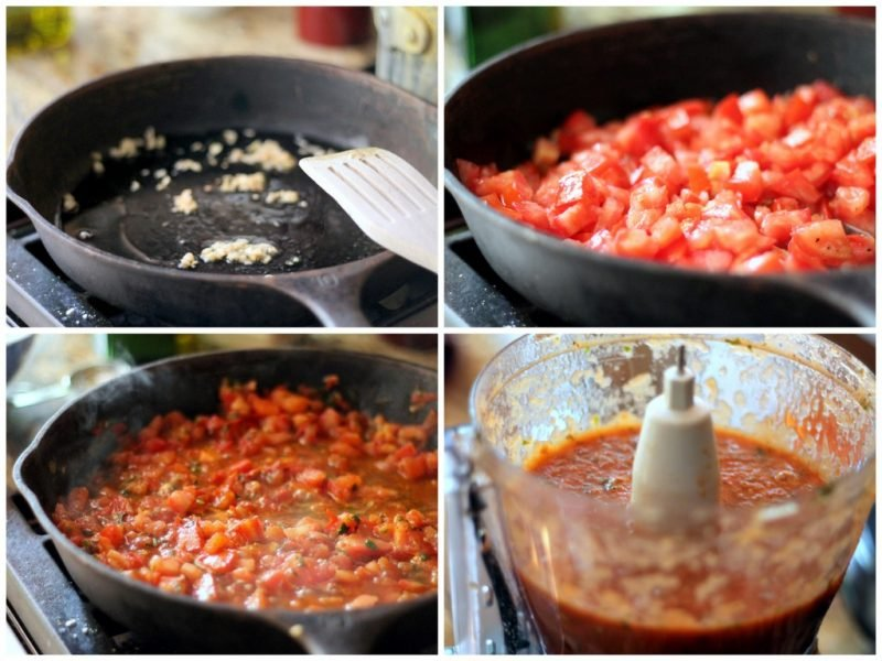 tomato sauce being made