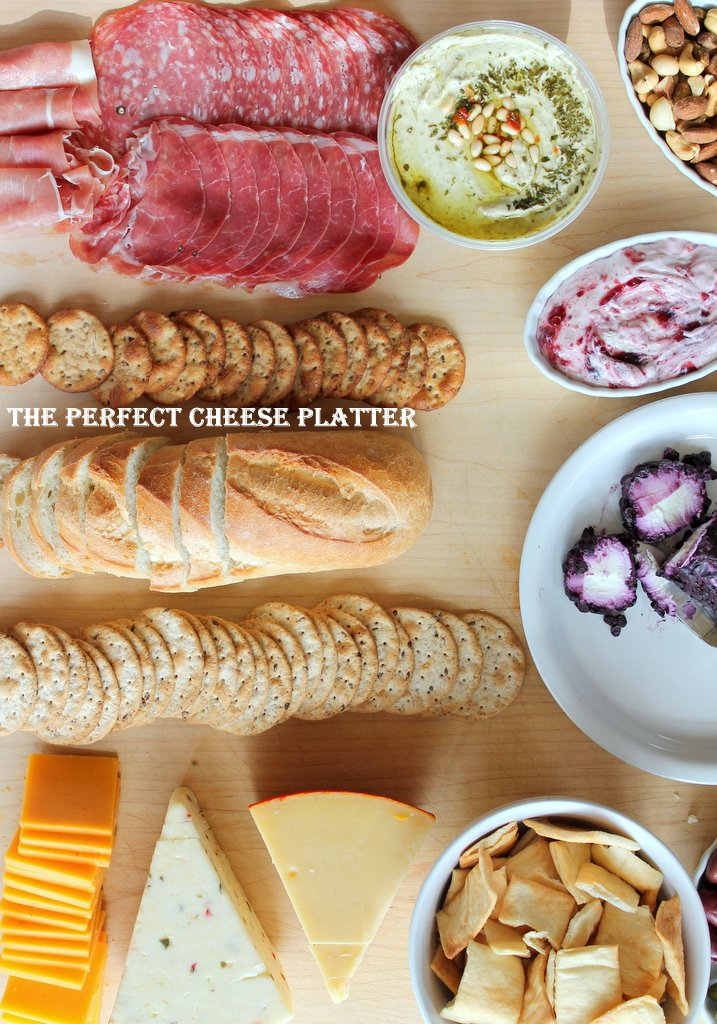How to make the Perfect Party Cheese Platter -- great for holidays, football, or any party!