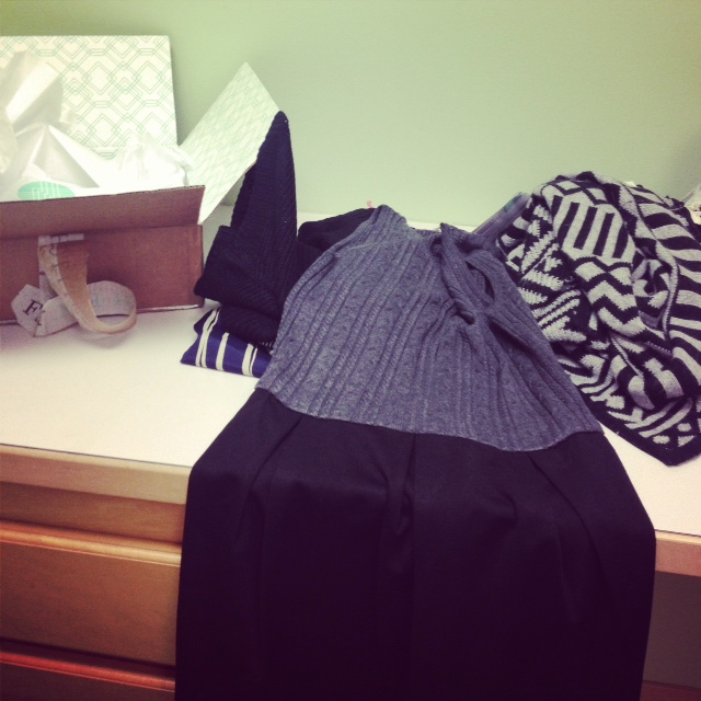 clothes on a dresser