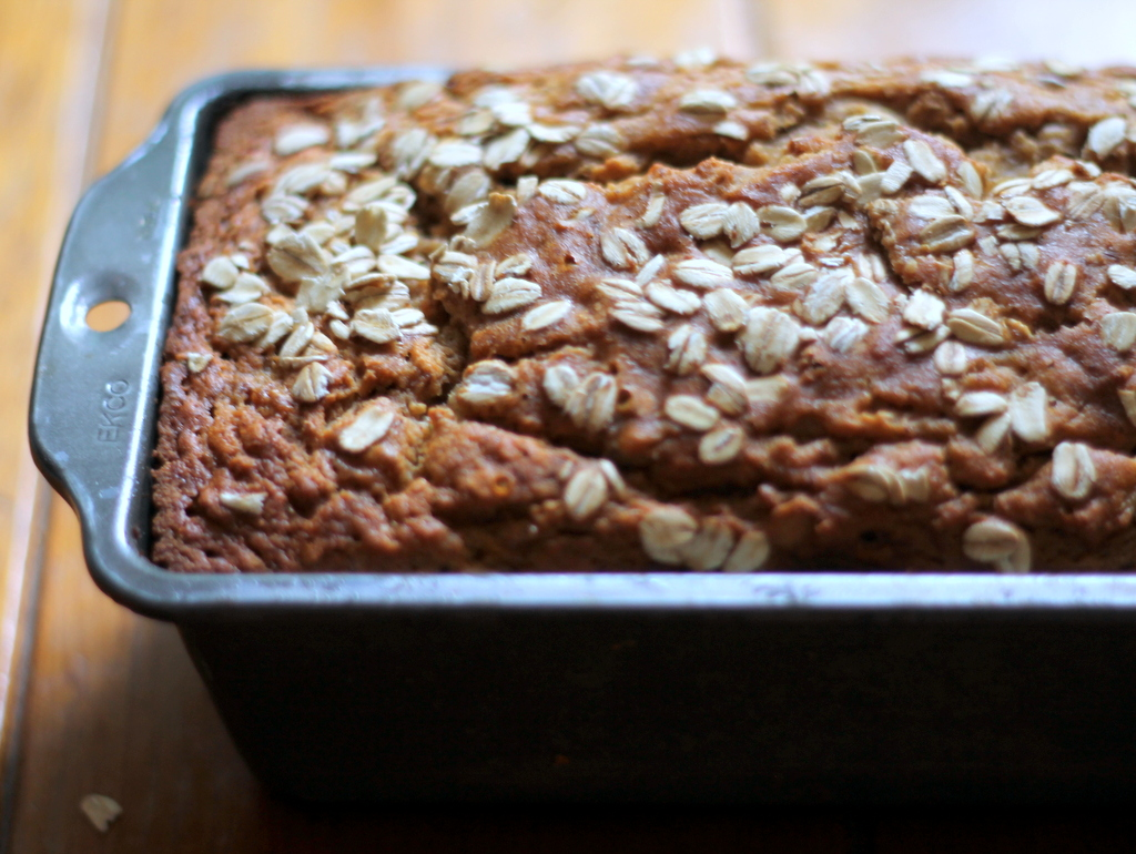 Whole Wheat Oatmeal Applesauce Banana Bread Ambitious