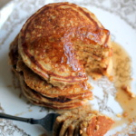 Apple Cider Maple Sausage Cornmeal Pancakes