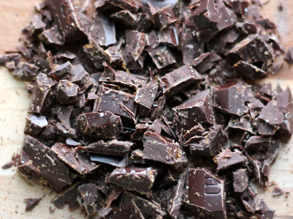 Chocolate broken into chunks