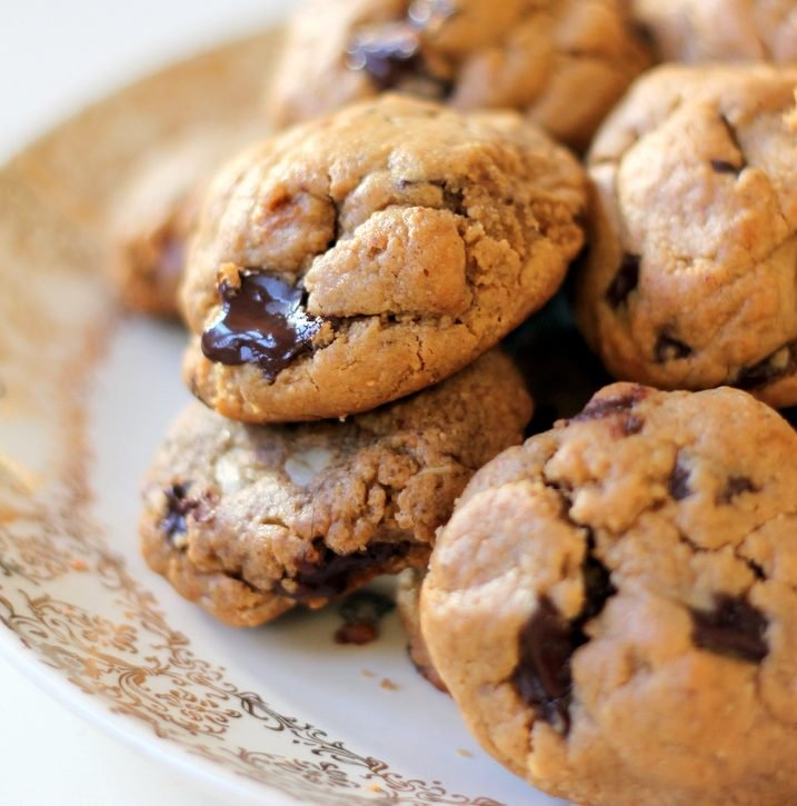 Easy Flourless Peanut Butter Chocolate Chunk Cookies Ambitious