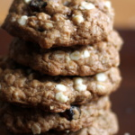 macadamia nut oatmeal cookies stacked