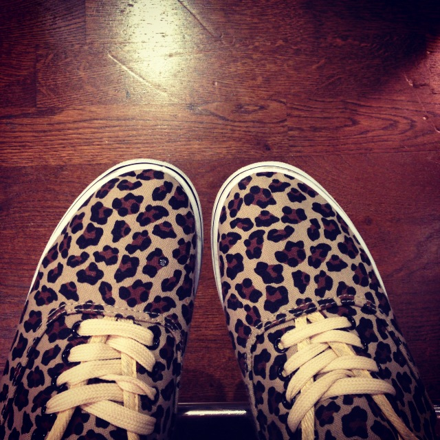 Cheetah print tennis shoes