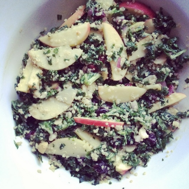 Kale apple quinoa salad
