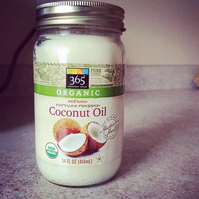 Jar of organic coconut oil
