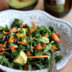 Kale Rainbow Detox Salad with Lemon Vinaigrette {vegan, gluten free}