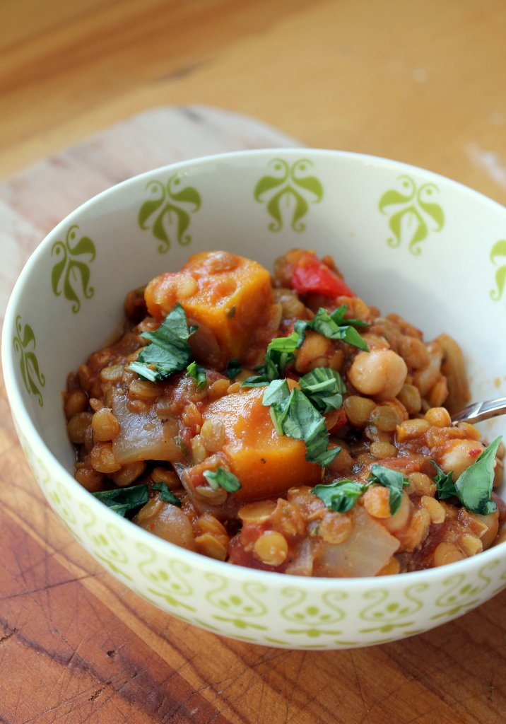Butternut Squash, Chickpea & Lentil Moroccan Stew - healthy, vegan and ...