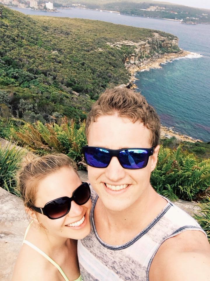 Tony and Monique overlooking the ocean in Sydney