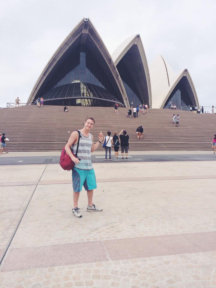 Tony in front of the Sydney Opera House