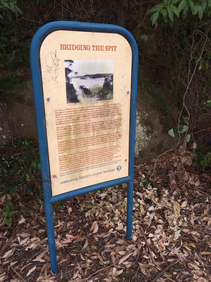 Sign on a hike in Australia