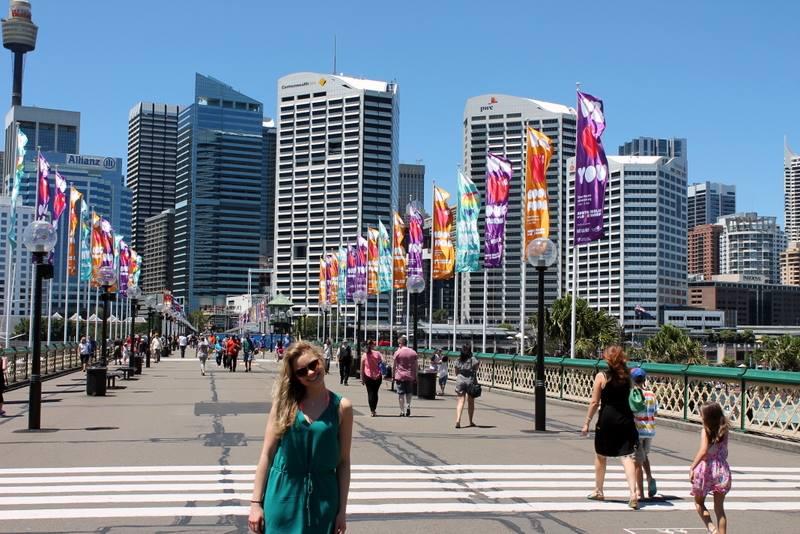 Monique in downtown Sydney
