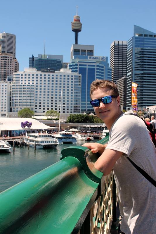 Tony in downtown Sydney