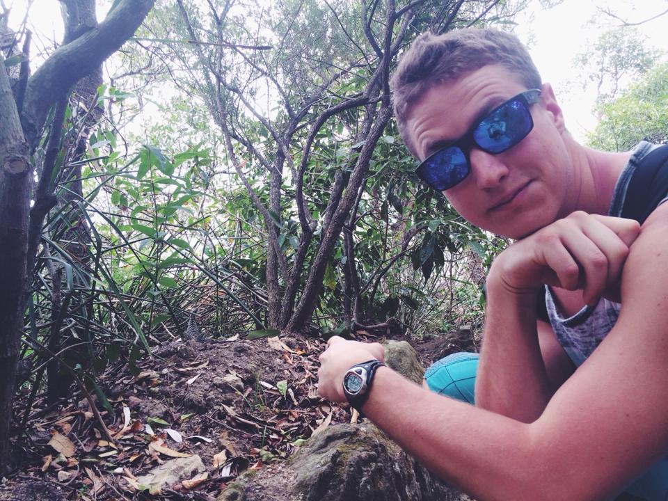 Tony on a hike in Australia