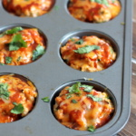 Cheesy Chicken Quinoa Enchilada Meatloaf Muffins