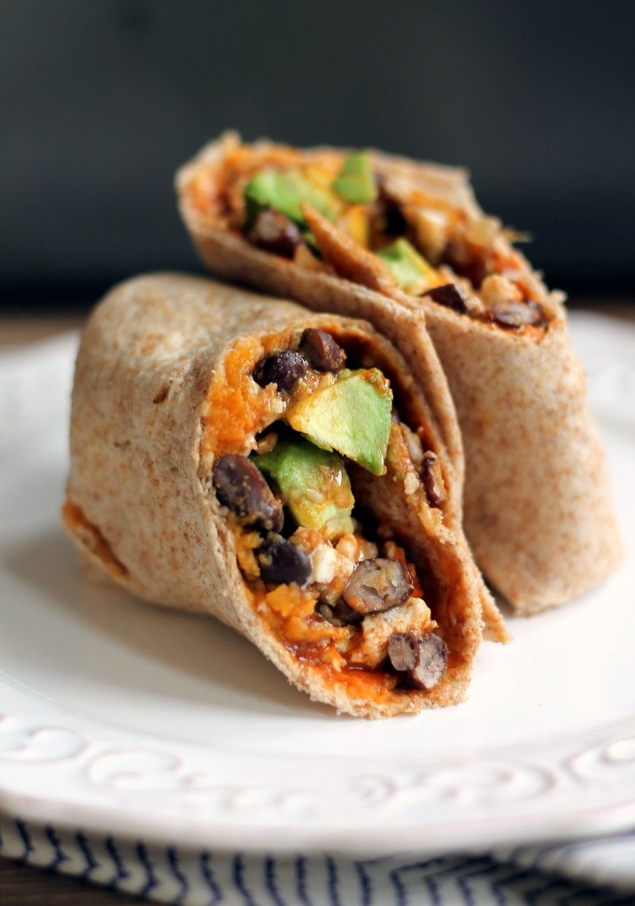 Healthy Sweet Potato Black Bean Breakfast Burritos Ambitious Kitchen