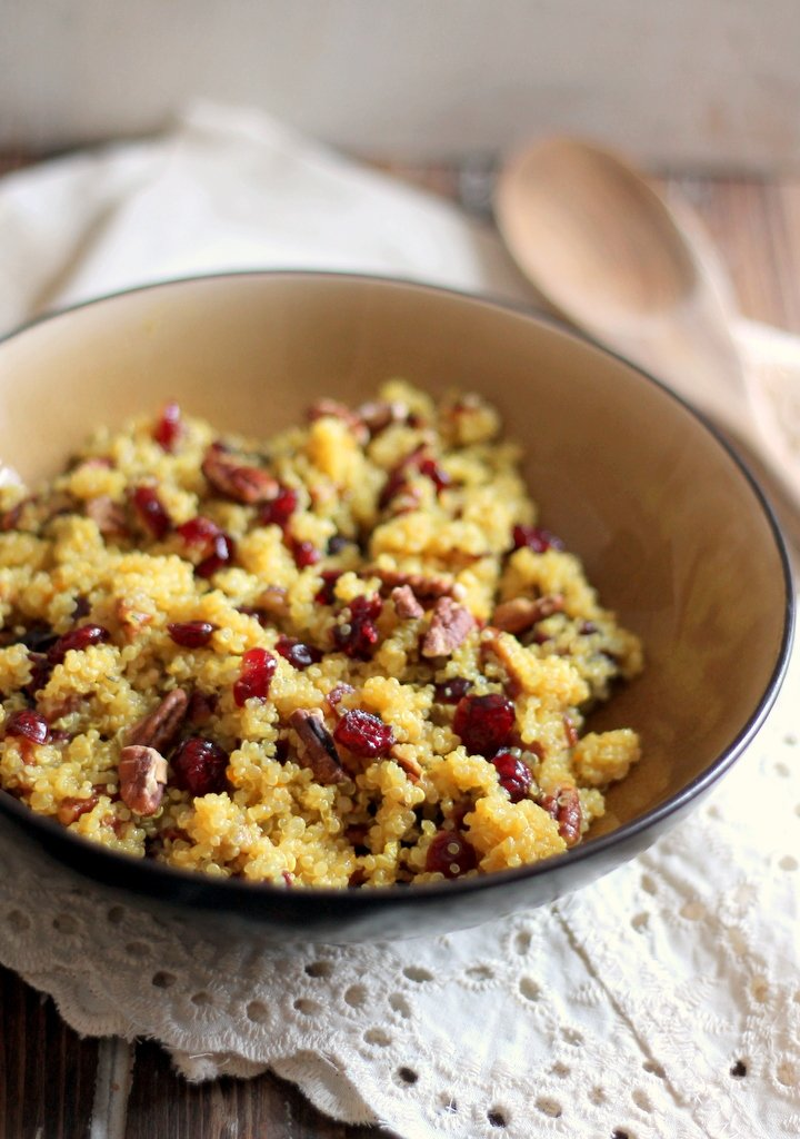 Cranberry Pecan Quinoa Salad in a bowl