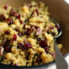 Cranberry Pecan Quinoa Salad with Honey-Orange Dressing