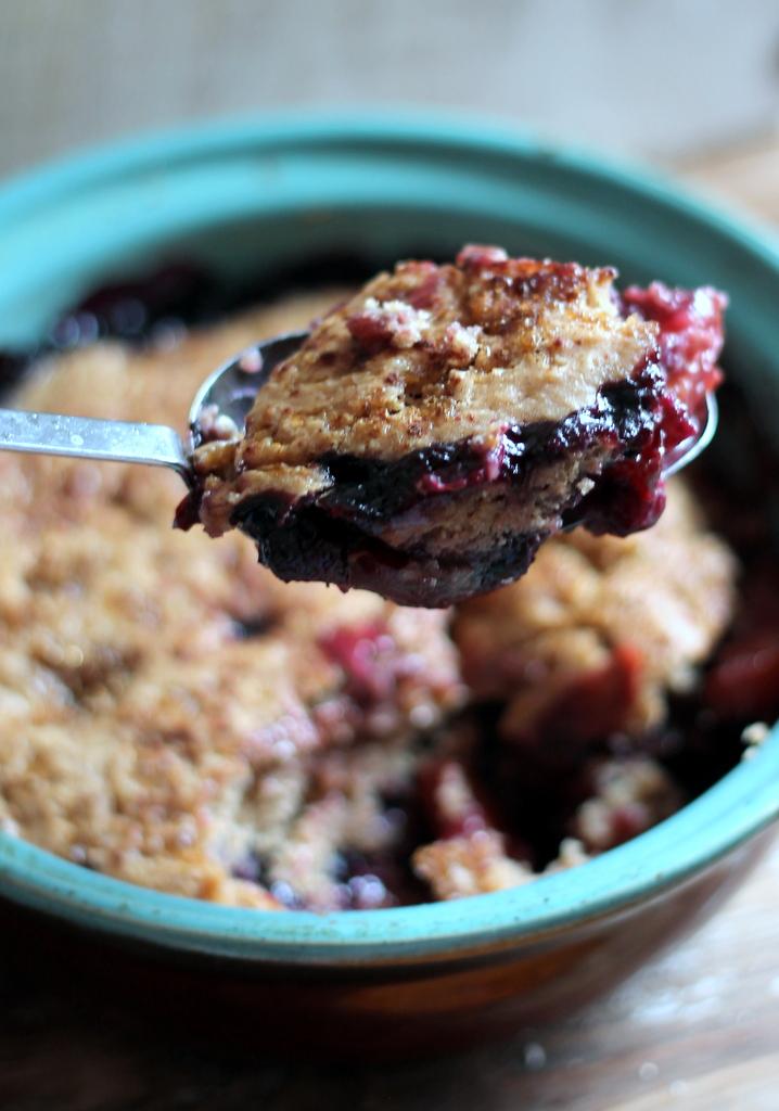 Brown Sugar Peach Blueberry Cobbler | Ambitious Kitchen