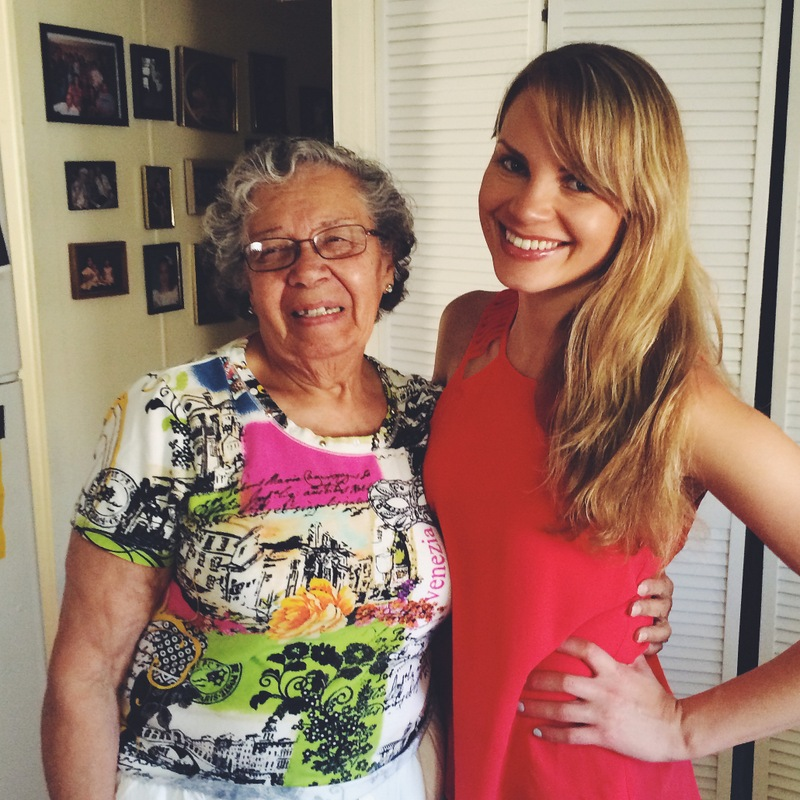 monique with her grandma