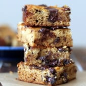 coconut flour bars in a stack