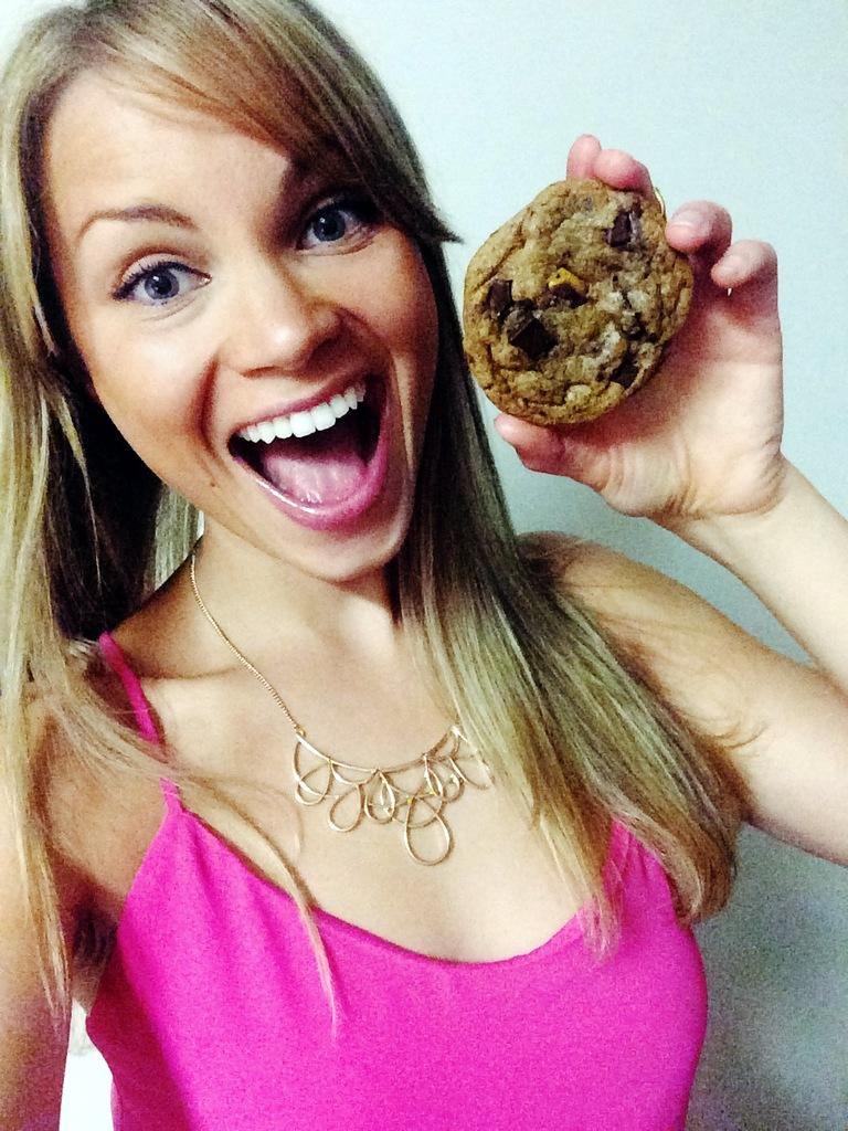 monique holding a cookie