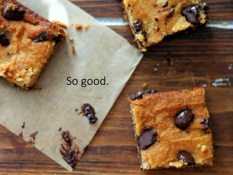 healthy coconut flour bars on wax paper