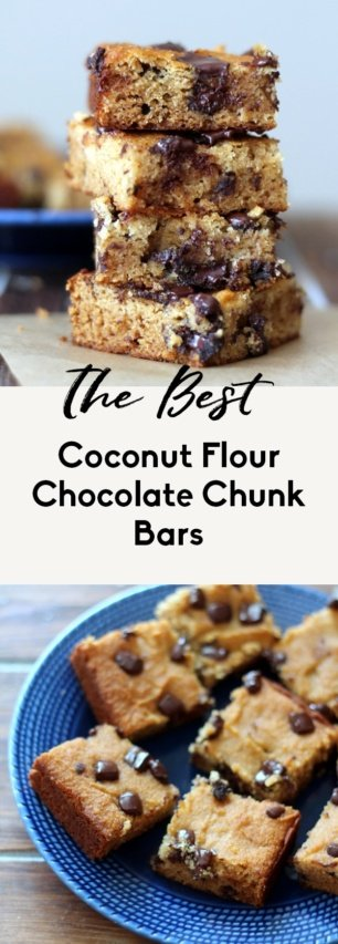collage of gluten free coconut flour bars