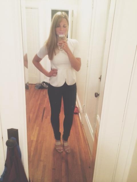 monique posing in the mirror