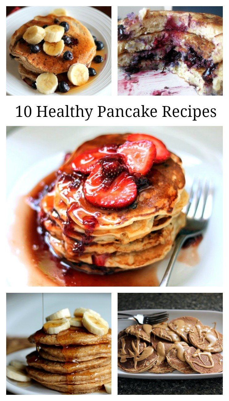 10 Healthy Pancakes graphic