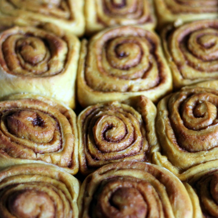 Brown Butter Pumpkin Cinnamon Rolls with Cream Cheese Frosting